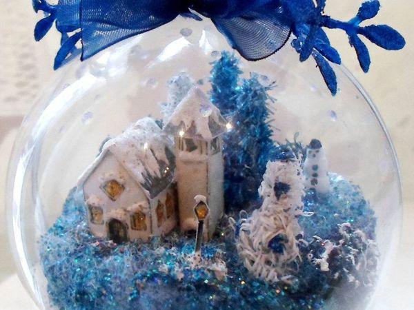 Рождественский городок в шаре | Ярмарка Мастеров - ручная работа, handmade