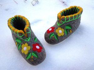 Новинка магазина — чуни ручной валки  из овечьей шерсти. Ярмарка Мастеров - ручная работа, handmade.