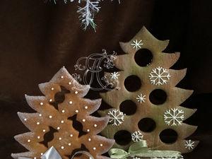Как сделать интерьерные елочки-ароматизаторы из пряничного теста. Ярмарка Мастеров - ручная работа, handmade.