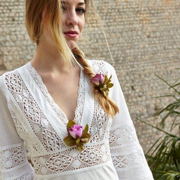 Белое бохо, или Шикарная одежда для королевы летнего пляжа, фото № 82