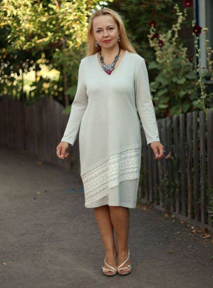 трикотажное платье, анонс новинок, платье с кружевом
