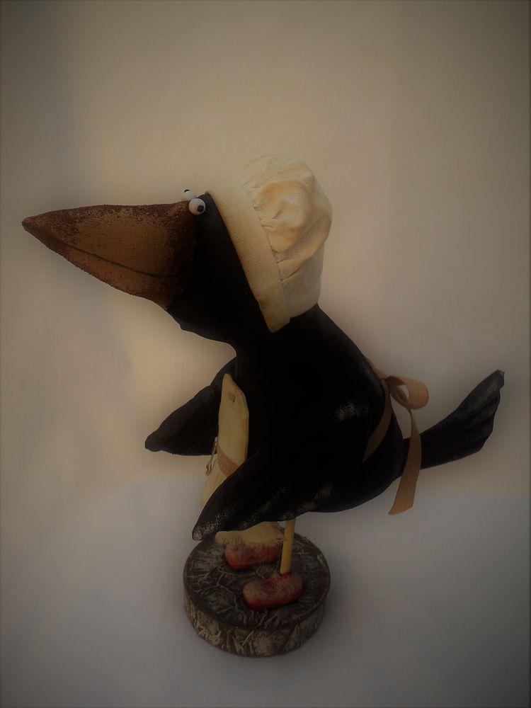 вороны, ворон, ворона, текстильная кукла, примитив, примитивы