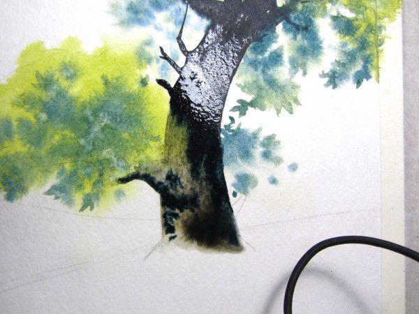 Как нарисовать дерево акварелью, фото № 15