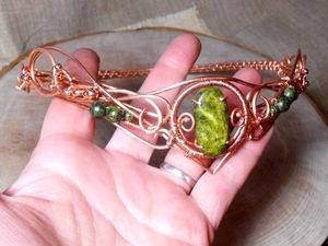 История создания венца со змеевиком. И немного о камне. Ярмарка Мастеров - ручная работа, handmade.