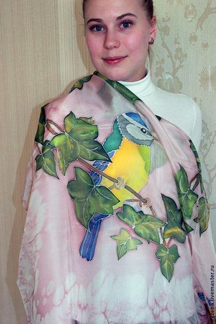 Весенние переливы(батик платок)