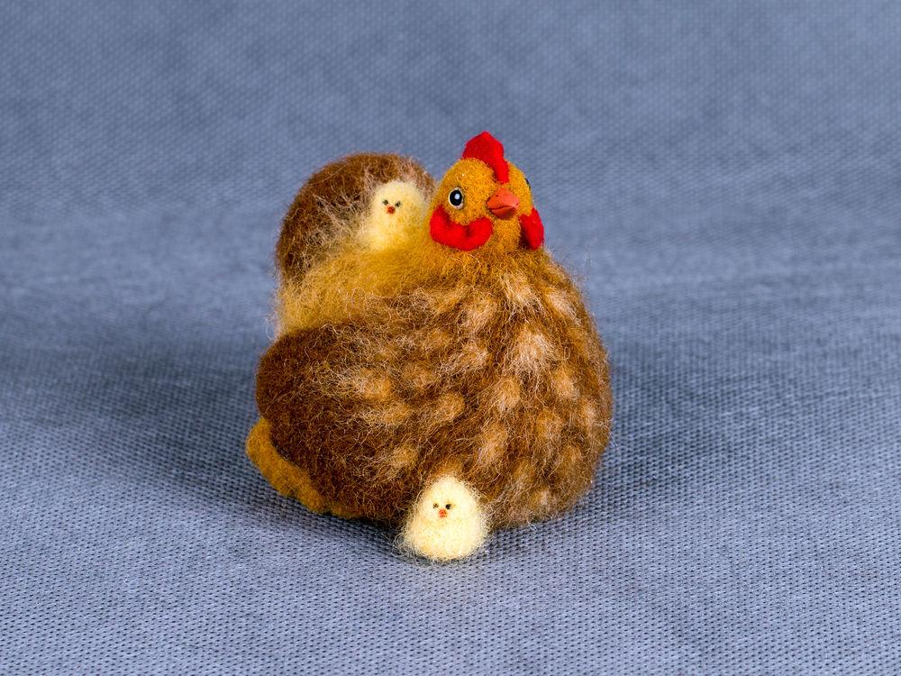 наседка, цыпленок валяный