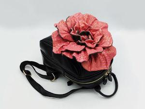 Первый видео-обзор рюкзака-цветка. Ярмарка Мастеров - ручная работа, handmade.