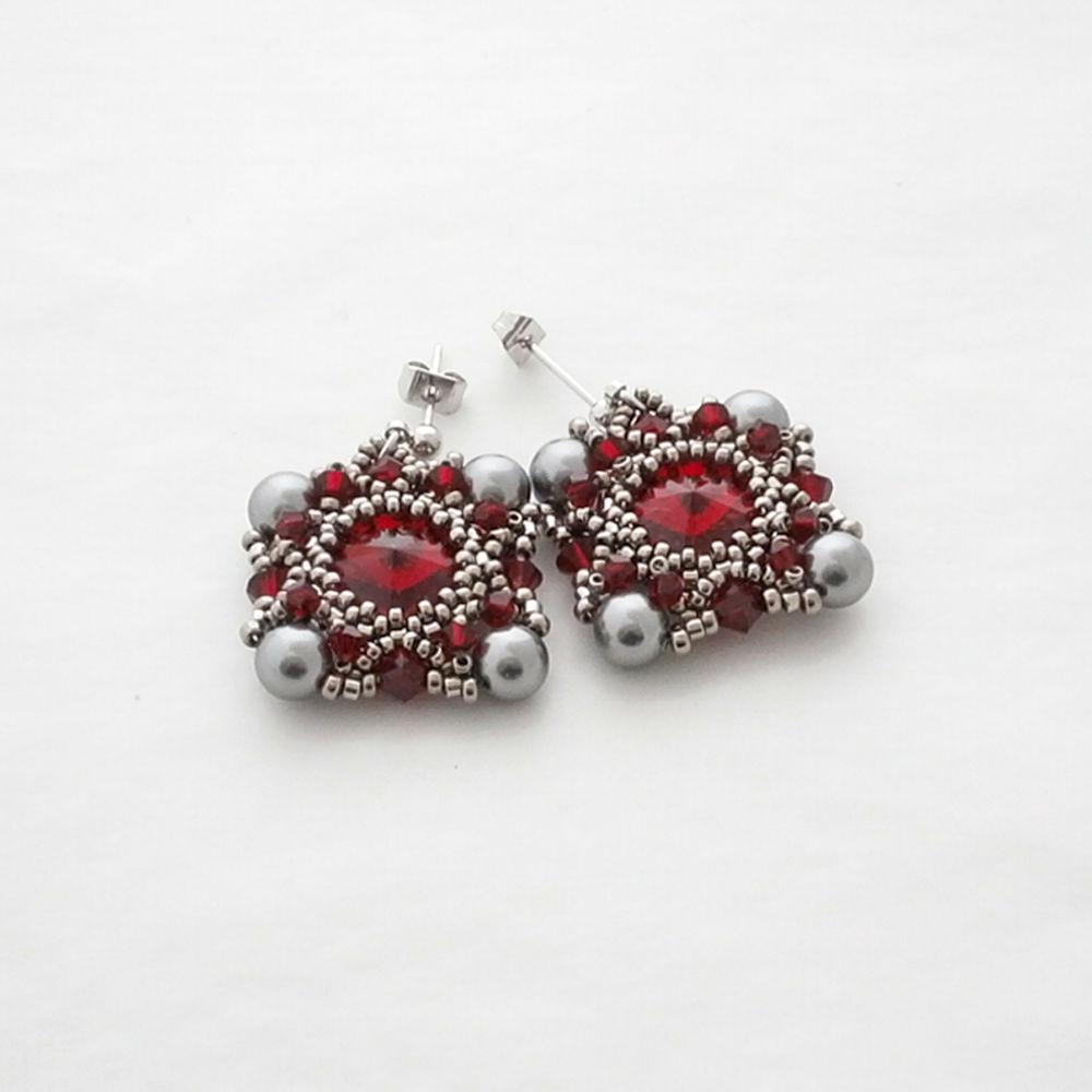 jewelry, jewellery, earrings, beads, gift, украшения, украшения из бисера, бисер, swarovski, miyuki, серьги, серьги из бисера, подарок, подарок девушке, подарок на 8 марта