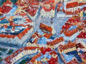 Видео-процесс написания маслом старого города Таллина. Ярмарка Мастеров - ручная работа, handmade.