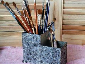 Работа с пастой. Имитация металлической поверхности от Акваколор. Ярмарка Мастеров - ручная работа, handmade.