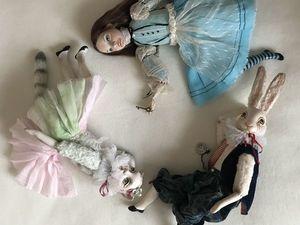 Киска, Алиска и кролик Маркиз. Куклы в новом формате по бюджетной цене. Ярмарка Мастеров - ручная работа, handmade.