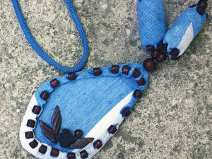 Кулон из хлопка Талисман.. Ярмарка Мастеров - ручная работа, handmade.