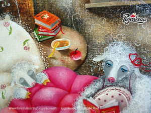 Картина маслом Сказки на ночь. Как рисую картину. Видео.. Ярмарка Мастеров - ручная работа, handmade.