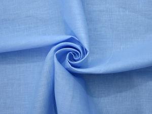 70руб./п.м. Лён 100% голубой шир.70см оптом. Ярмарка Мастеров - ручная работа, handmade.