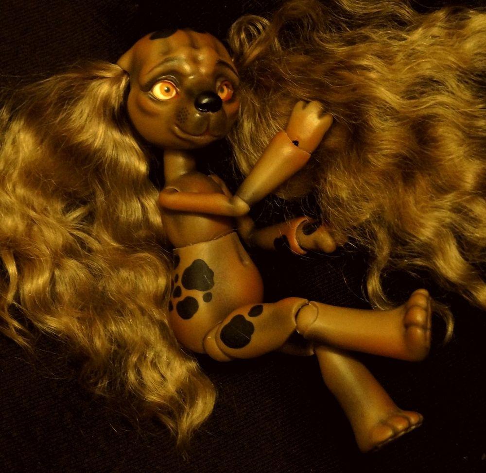 кукла собака, ball jointed doll