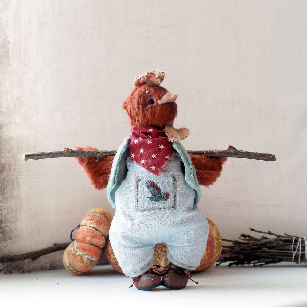 петух тедди, авторская игрушка, 2017 год, лилия небессная, резерв, хелло тедди