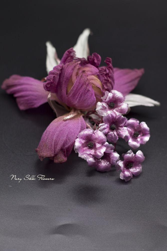 цветы авторской работы, шёлковая флористика