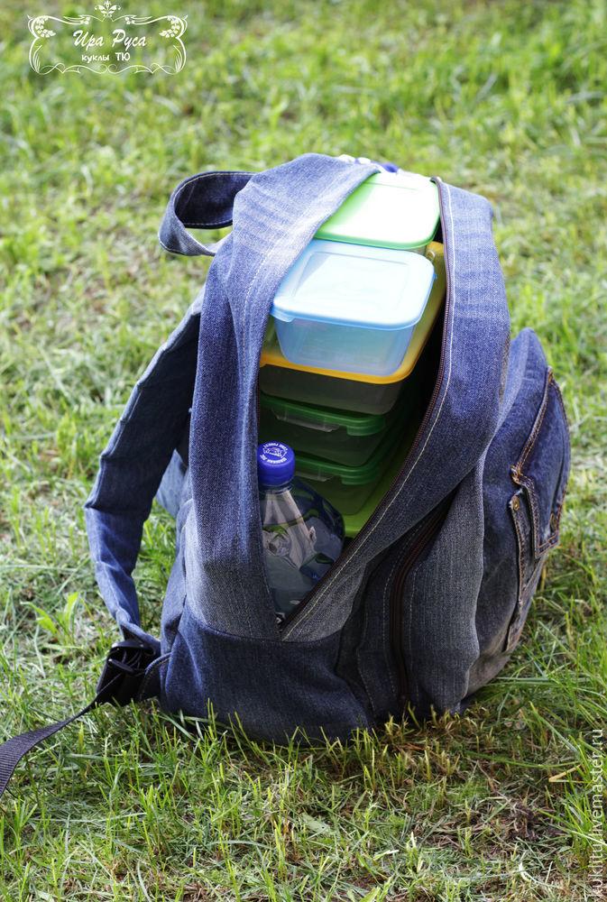 Шьем из джинсовой ткани удобный рюкзак для пикника на берегу моря, фото № 43
