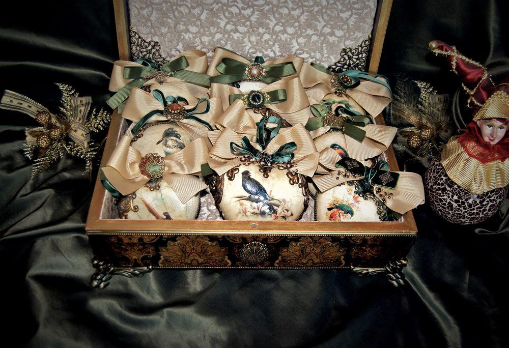 новогодний подарок, уникальный подарок, керамические украшения