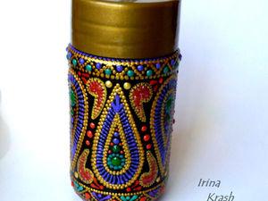 Точечная роспись баночки из-под кофе. Ярмарка Мастеров - ручная работа, handmade.