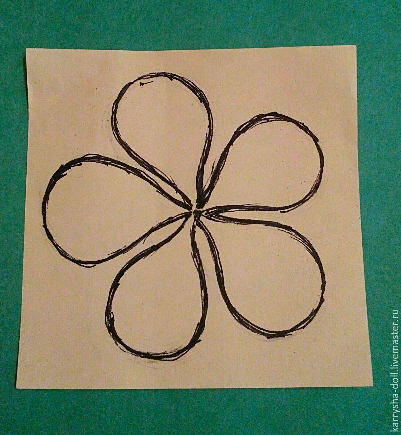 пятилистник, цветочек из бумаги, занятия с детьми