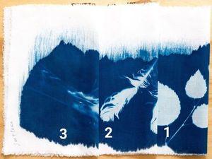 Для тех кто красит ткань цианотипией. Ярмарка Мастеров - ручная работа, handmade.