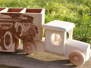 Аукцион Карандашница грузовичок. Ярмарка Мастеров - ручная работа, handmade.