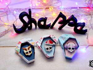 !!!Новогодние брошки-черепушки!!!. Ярмарка Мастеров - ручная работа, handmade.