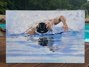 Представляю новую работу: Олимпийский чемпион. Плавание. Ярмарка Мастеров - ручная работа, handmade.
