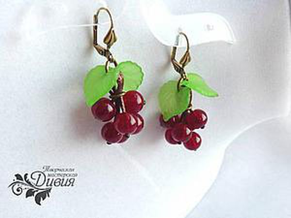 Making Berry Earrings Without Pins | Livemaster - handmade