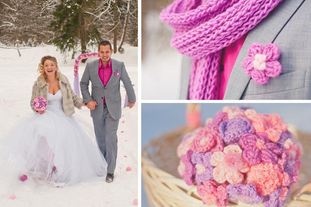 Свадьбы с вязанными