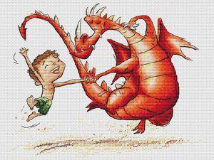 Как вышить дракона крестиком: обзор авторских схем | Ярмарка Мастеров - ручная работа, handmade