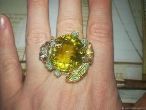 Скидка 30% на кольцо  «Обольстительница»  с натуральным лимонным цитрином ААА. Ярмарка Мастеров - ручная работа, handmade.