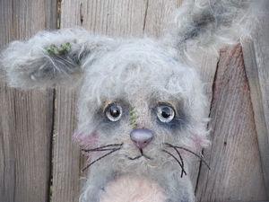 Лялька)))) Кролик домашний с Ёлкой и волком. Ярмарка Мастеров - ручная работа, handmade.