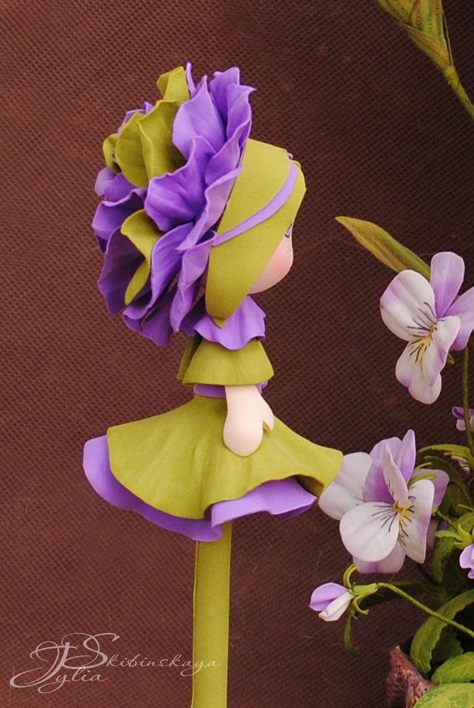 фоам, цветы из фоамирана, роза из фоамирана, кукла из фоамирана, кукла в подарок