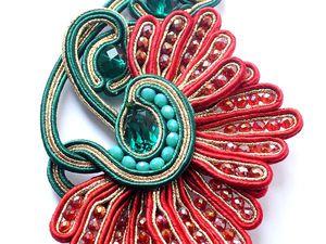 Создаем сутажную брошь — прекрасный цветок мак. Ярмарка Мастеров - ручная работа, handmade.