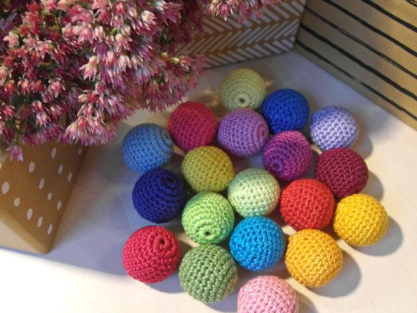 Радужные бусины | Ярмарка Мастеров - ручная работа, handmade
