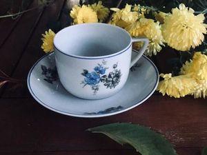 Чашка с блюдцем Чудово 1953год. Ярмарка Мастеров - ручная работа, handmade.
