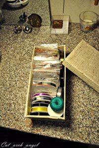 коробка со шнурами