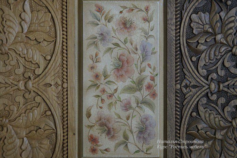 мебель с росписью, курс декор мебели