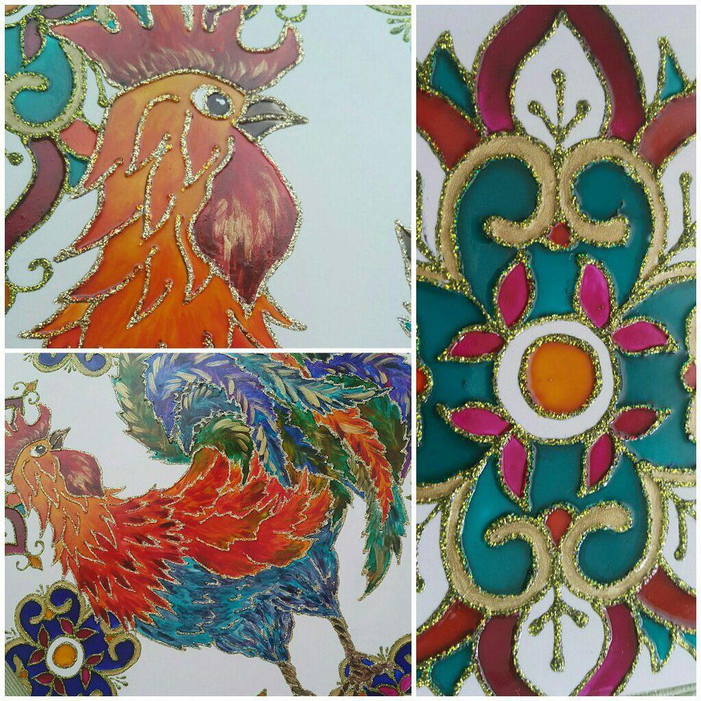 мастер-класс, мастер класс по росписи, витражная роспись, витраж, керамическая плитка