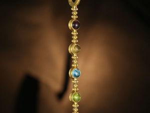 Длинные серьги с камнями. Серьги с цветными камнями. Ярмарка Мастеров - ручная работа, handmade.