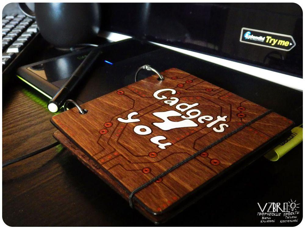 vzbrelo, деревянный блокнот, блокноты из дерева, микросхемы, заказ, роспись, скетчбук