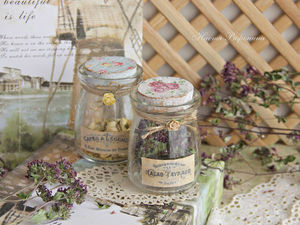 How to Decorate Glass Jars with Decoupage Roses. Livemaster - handmade