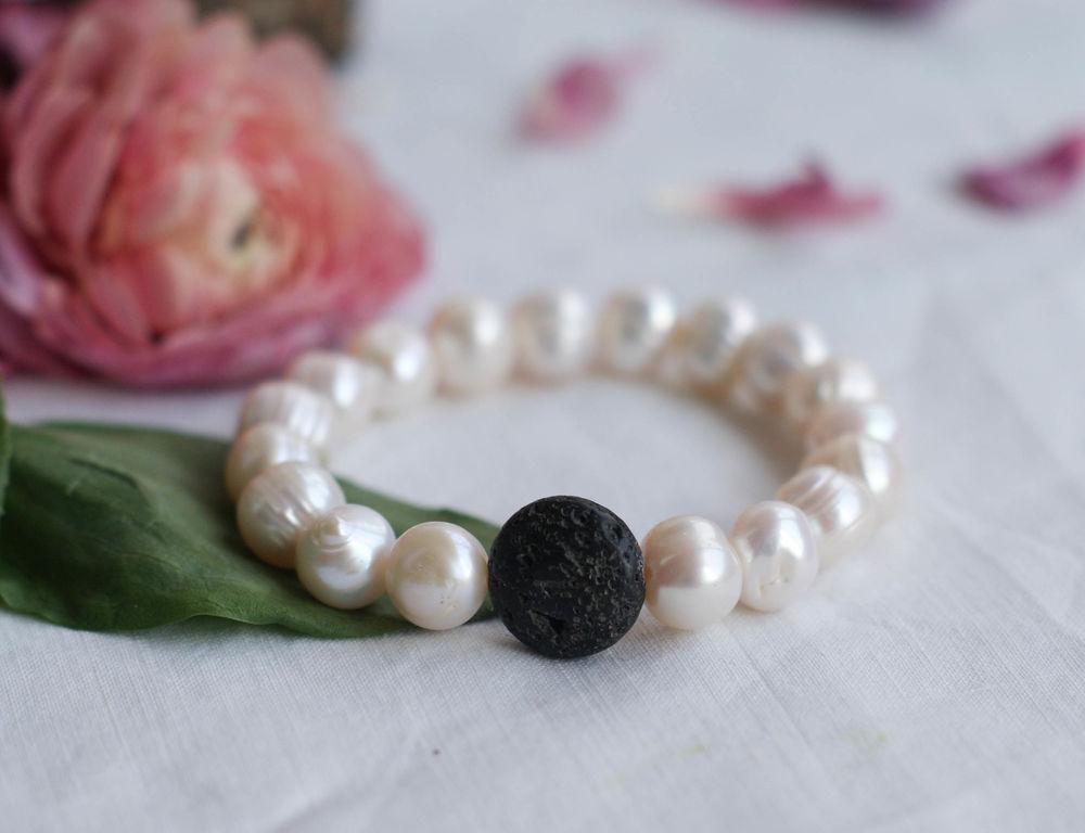 аукцион, аукцион с нуля, жемчужный, жемчуг, браслет, натуральные камни