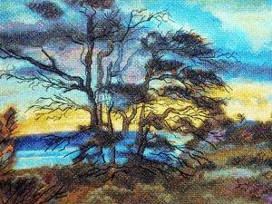 """Новая работа вышитая картина """"На семи ветрах"""" и процесс её создания. Ярмарка Мастеров - ручная работа, handmade."""