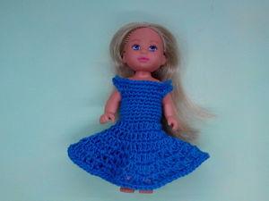 Вяжем крючком платье для куклы. Видео мастер-класс. Ярмарка Мастеров - ручная работа, handmade.
