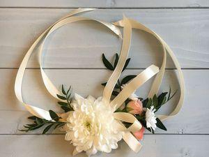 Создаем нежный свадебный браслет из живых цветов. Ярмарка Мастеров - ручная работа, handmade.