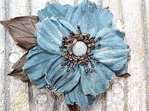 How to Make a Flower Brooch from Leather. Livemaster - handmade