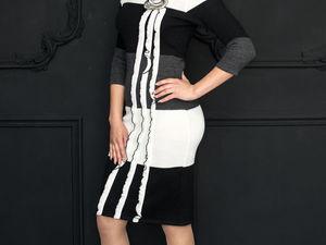 Аукцион на стильное вязаное платье !. Старт 2000 руб с пересылкой!. Ярмарка Мастеров - ручная работа, handmade.